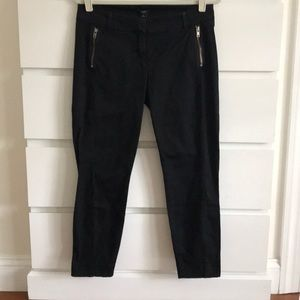 J Crew Black City Fit Zipper Crop Pant 8